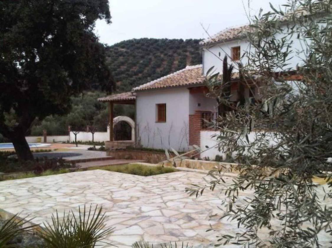 Vista de la vivienda desde el patio principal.