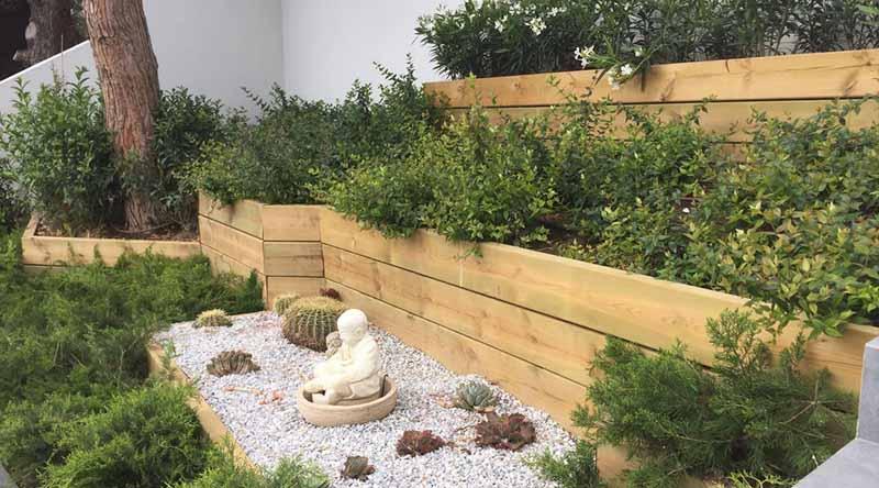 Detalle de jardineras