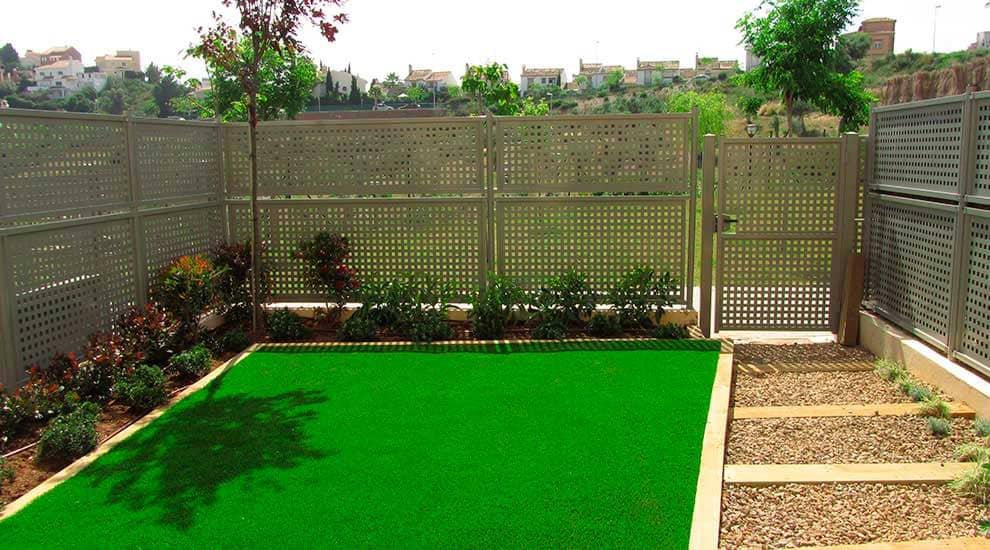 Visión completa del jardín