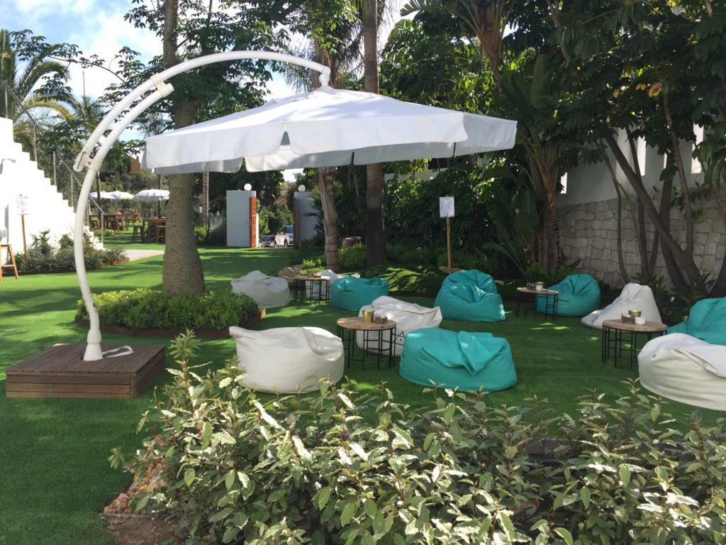 Jardín recibidor