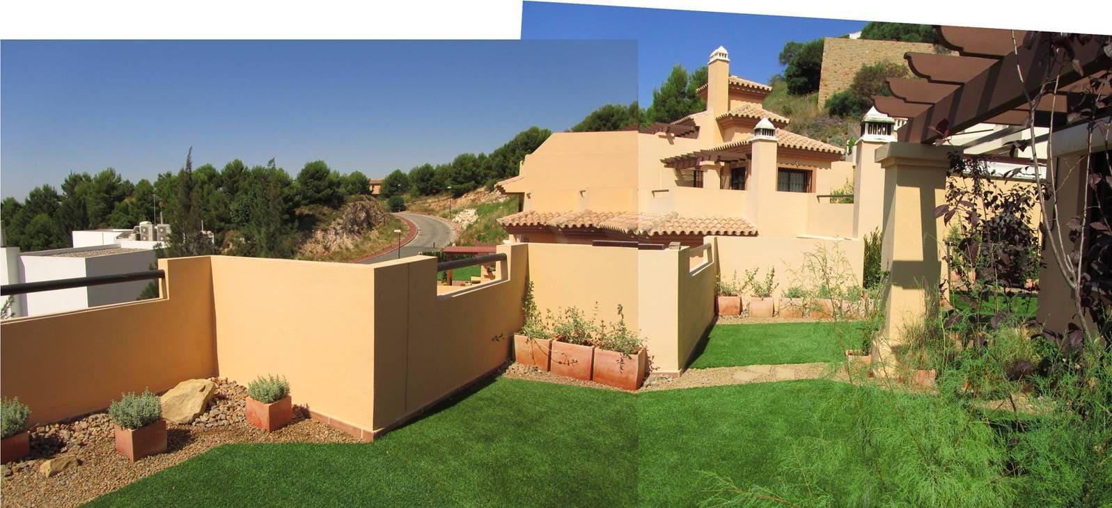 Panoramica jardin Terraza Ático