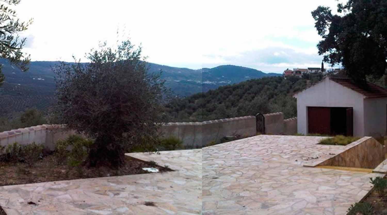 View of the main courtyard Cortijo Iznajar