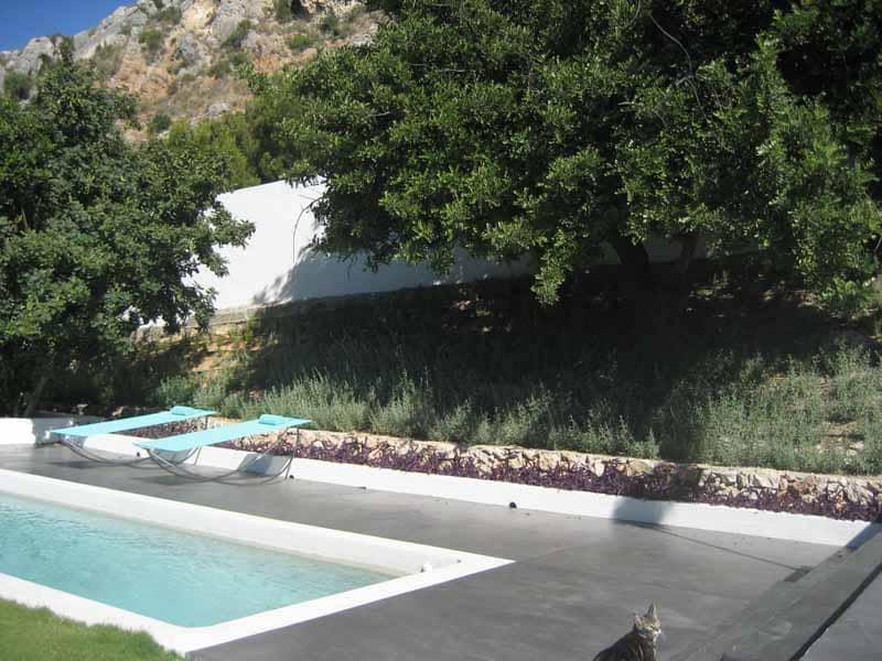 View of the pool Villa Nan