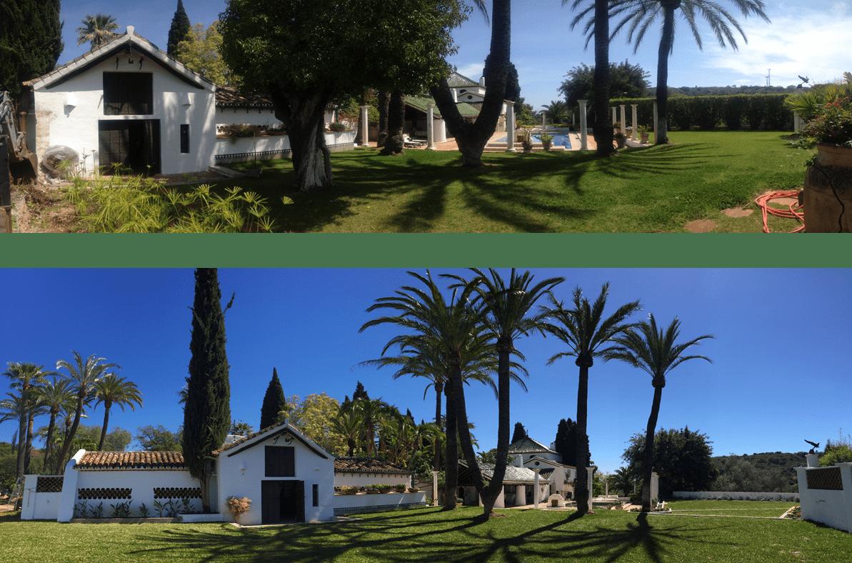 antes y después cortijo SF