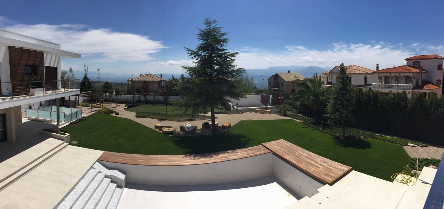 Panorámica jardín Villa Rey